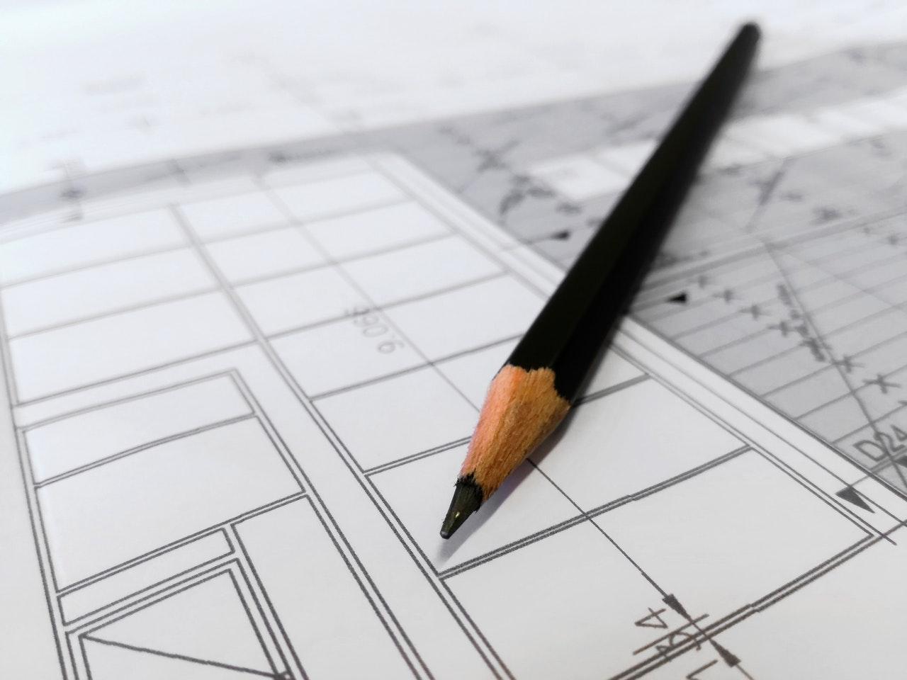 Tegning af ny tilbygning til hjemmet